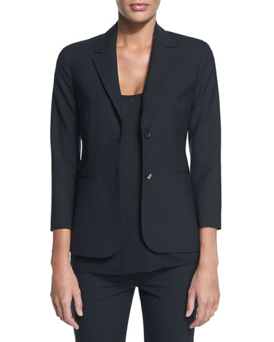 New Schoolboy Two-Button Blazer, Black