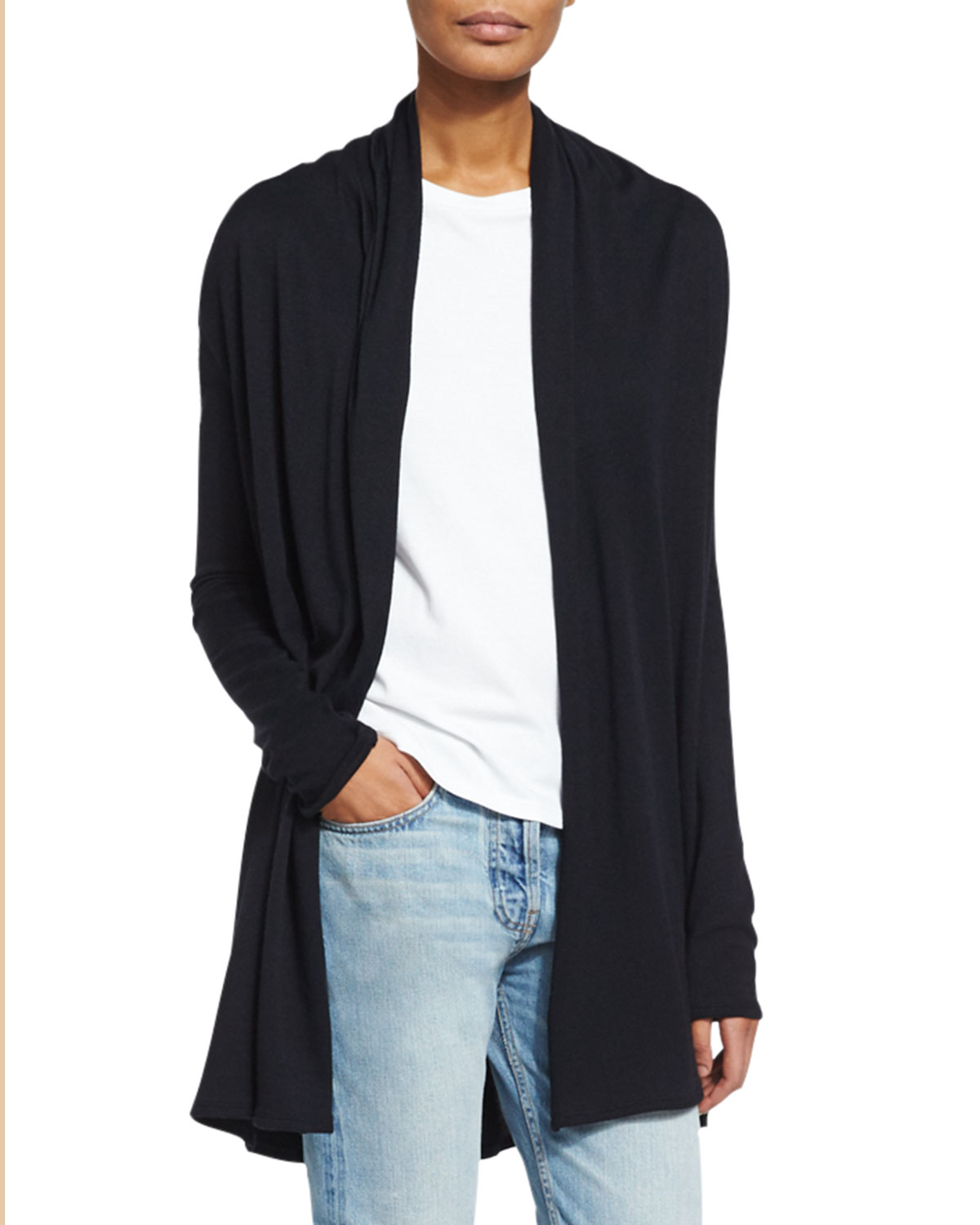 a8192cacc850 THE ROW Knightsbridge Open-Front Sweater