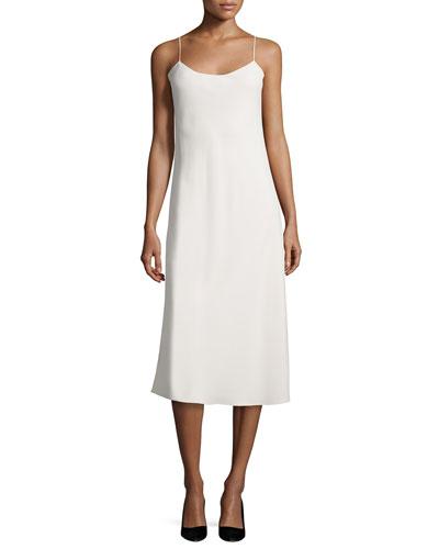 Gibbons Sleeveless Bias-Cut Dress, Cream