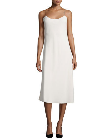 THE ROW Gibbons Sleeveless Bias-Cut Dress, Cream