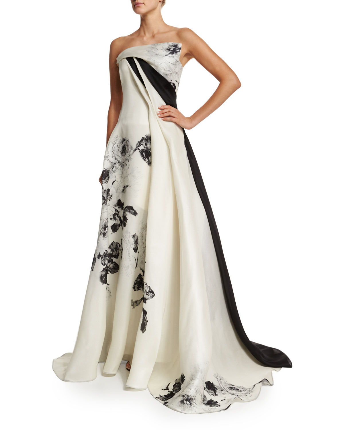 Cheap Sale Get Authentic View For Sale Rubin Singer printed strapless dress m8p7q8J