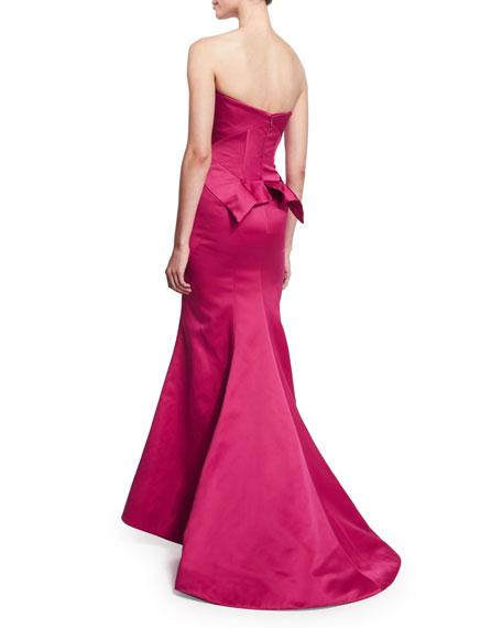 Strapless Trumpet Gown, Fuchsia