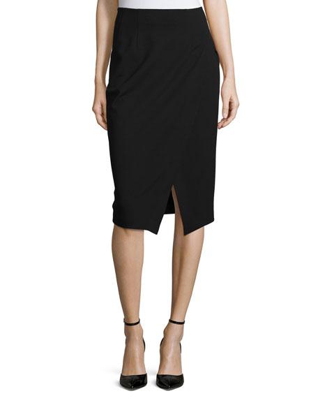 Donna Karan Slim-Fit Scissor Skirt, Black