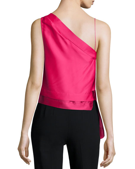 One-Shoulder Asymmetric Top, Peony