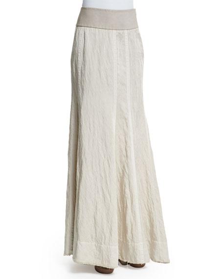 Donna Karan Slim-Fit Floor Skirt, Natural