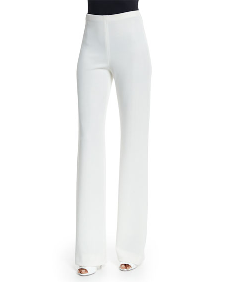 Donna Karan Fluid High-Waist Pants, Ivory