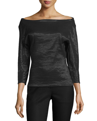 Kendell Off-The-Shoulder Top, Black