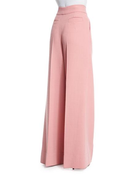 High-Waist Wide-Leg Trousers, Rosehip