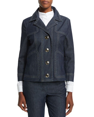 New Thermal Denim Jacket, Navy