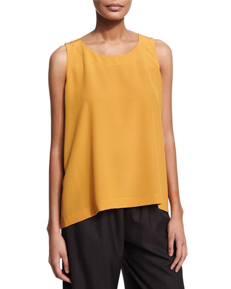 Eskandar Short-Sleeve Open-Front Jacket, Round-Neck A-Line Shell,
