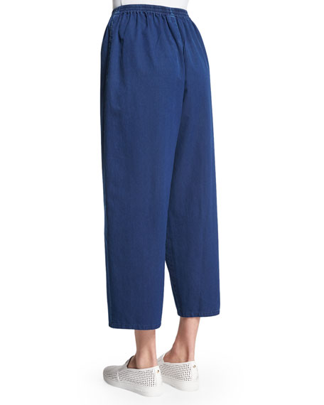 Slimmer Cropped Japanese Trousers, Indigo