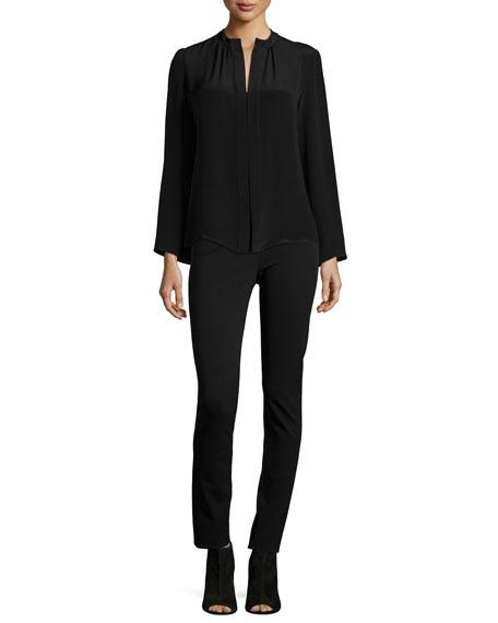 Hanne Mid-Rise Leggings, Black