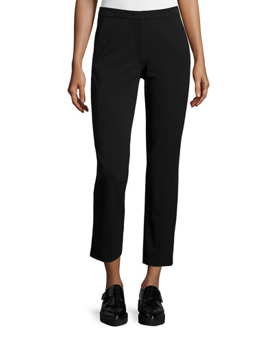 Drake Slim-Leg Cropped Pants, Black
