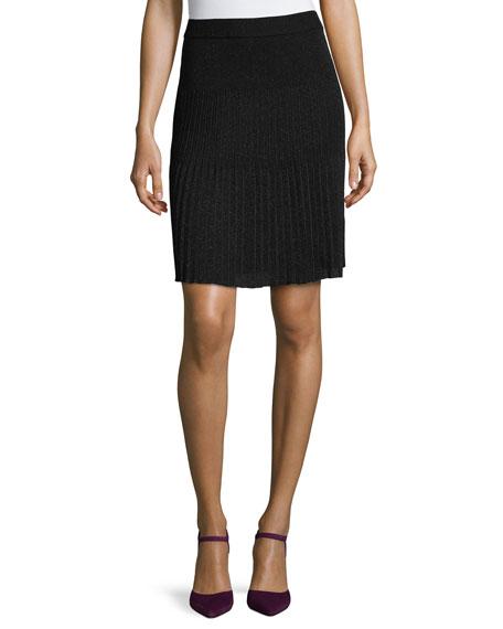 Missoni Banded-Waist Pleated Skirt, Black