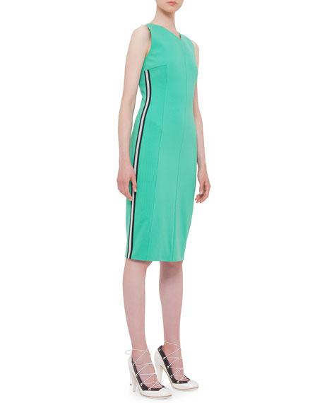 Akris punto Sleeveless Mesh Side-Stripe Dress, Spearmint