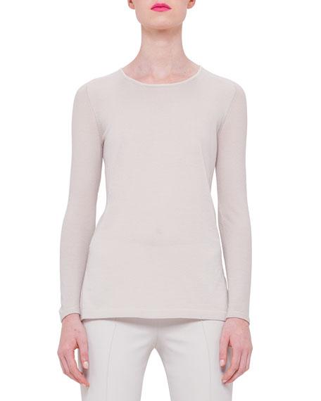 Akris Long-Sleeve Cashmere Tunic, Ranunculus
