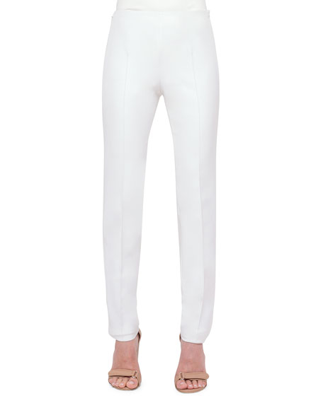 Akris Melissa Techno Cotton/Silk Pants, Anemone