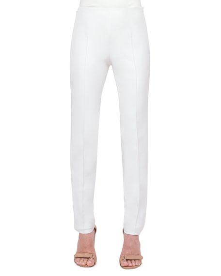 Akris Melissa Techno Cotton/Silk Pants, Anemone