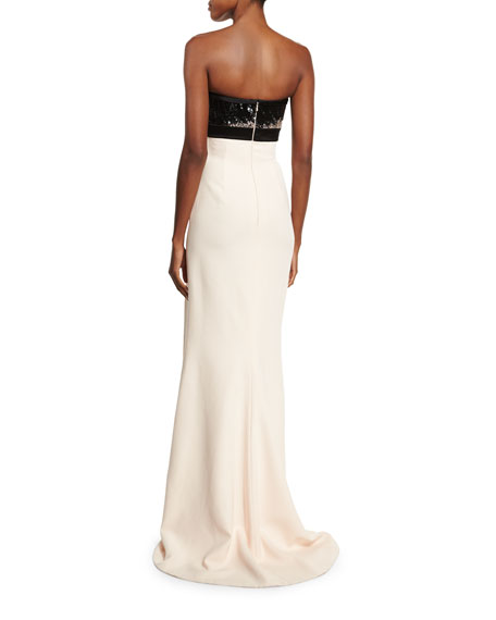 Embellished Bodice Strapless Wedding Gown: J. Mendel Embellished-Bodice Strapless Gown, Barely Pink