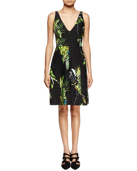 Proenza Schouler Sleeveless Floral-Print Sheath Dress,