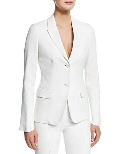 Two-Button Slim-Fit Jacket, Ivory