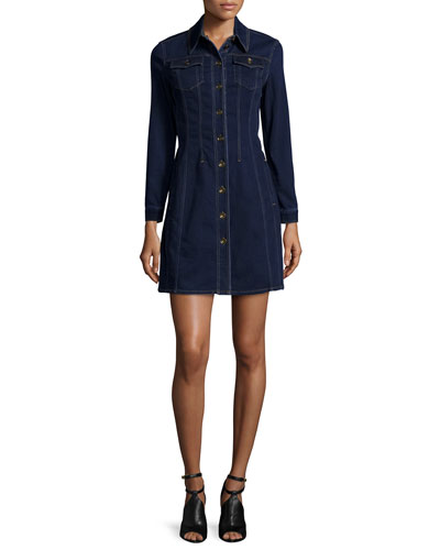 Pippi Long-Sleeve Denim Shirtdress