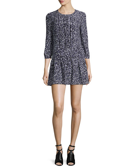 Burberry Brit Ellia Printed Silk Dropped-Waist Dress