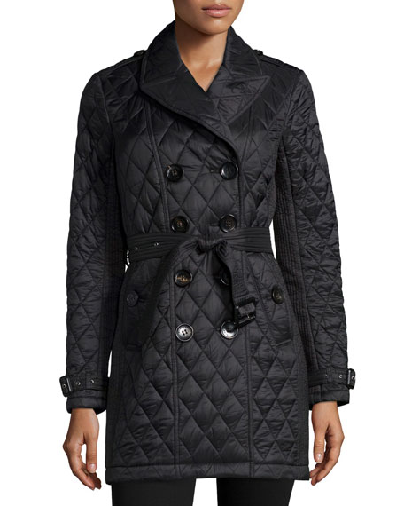 Burberry Brit Goldsmeade Lightweight Quilted Trench Coat