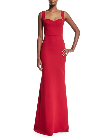 Victoria Beckham Sleeveless Sweetheart-Neck Mermaid Gown, Red