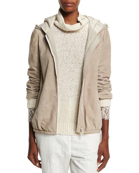 Monili-Trim V-Neck Cashmere Pullover Sweater, Mint Top Reviews