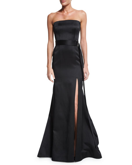 Jason Wu Strapless Mermaid Gown W/Belt, Black