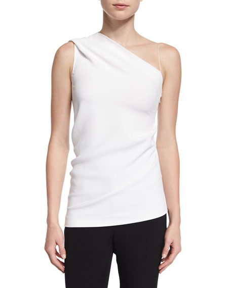 Cushnie Et Ochs One-Shoulder Slim-Fit Top, White