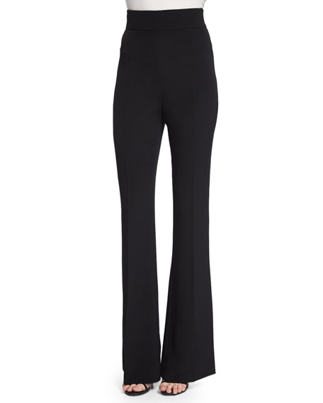 Cushnie et Ochs High-Waist Flare-Leg Pants, Black