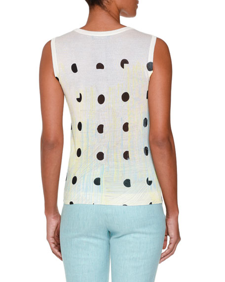 Deco-Dot Tie-Dye Shell, Yellow/Aqua/Multi
