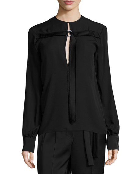 Edun Long-Sleeve D-Ring Tunic & Pleated-Front Belted Bermuda
