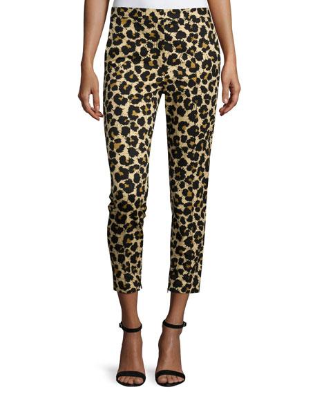 Edun Leopard-Print Skinny Ankle Jeans, Leopard Splatter