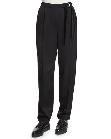 Edun Tapered Wide-Leg Pants, Black