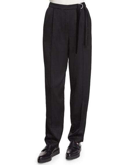 Edun Tapered Wide-Leg Pants, Black