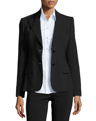 Turlington Two-Button Jacket, Black