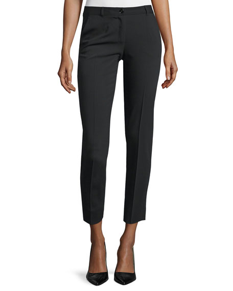 Dolce & Gabbana Mid-Rise Skinny Cropped Pants, Black