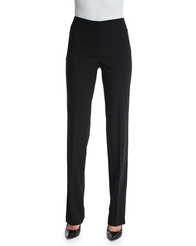 Madison Straight-Leg Pants, Black