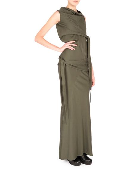 Rick Owens Sleeveless Cowl-Neck Mermaid Gown, Army