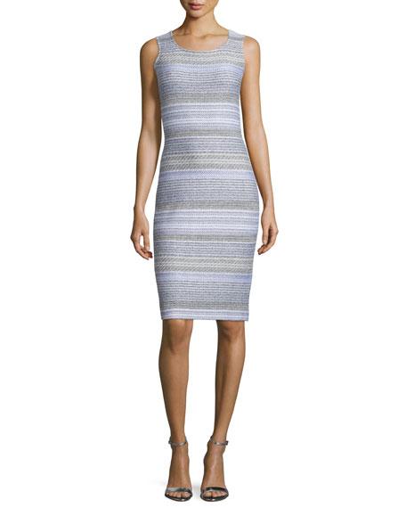 St. John Collection Raya Knit Scoop-Neck Sheath Dress,