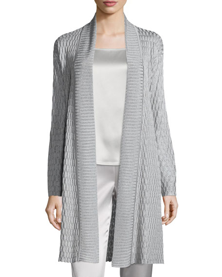 St. John Collection Tile Lattice Knit Artisan Cardigan,