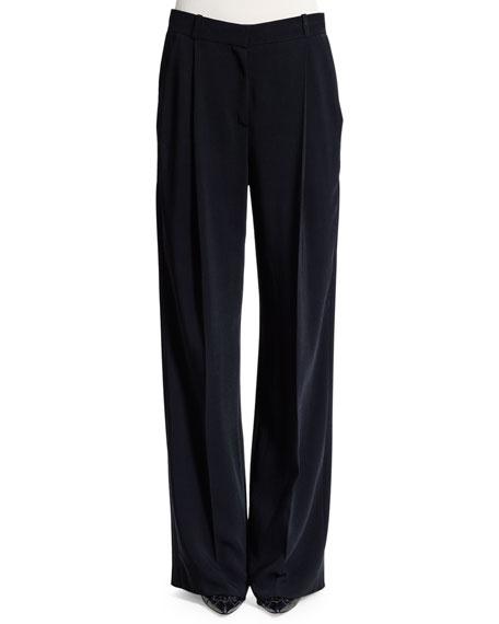 Givenchy Star Wide-Leg Pants, Black