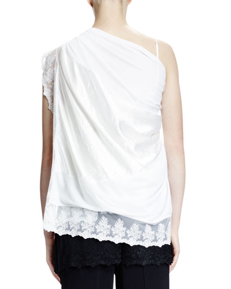 Lace-Trim Overlayer, White