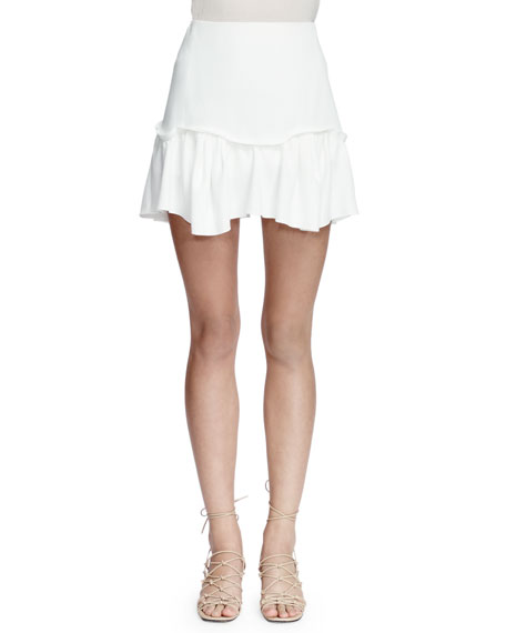 Chloe Easy A-Line Mini Skirt, Milk