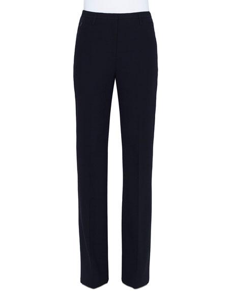 Akris Flare-Leg Mid-Rise Pants, Black