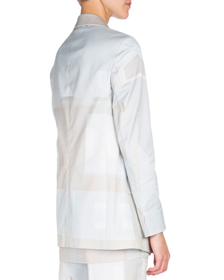 Long-Sleeve Slim-Fit Jacket, Blue