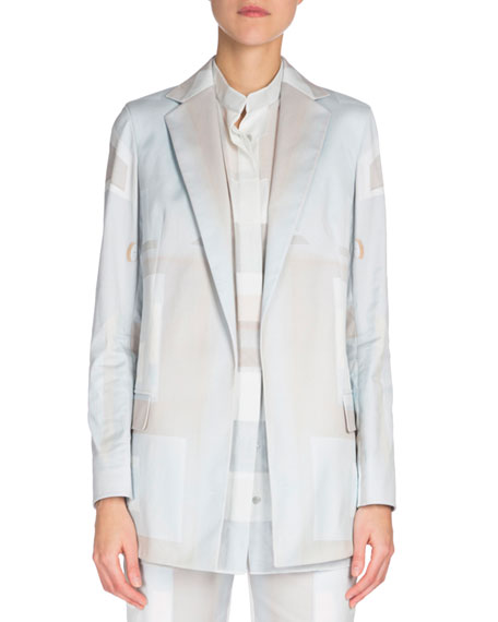 Akris Long-Sleeve Slim Jacket, Sleeveless Button-Front Blouse &